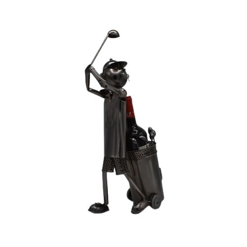 Porta bottaglia in metallo - Golfista