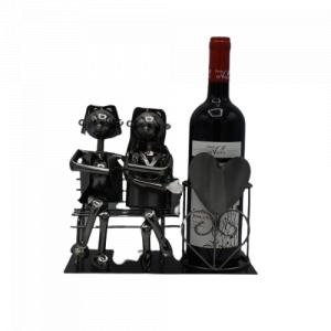Porta vino in metallo -...
