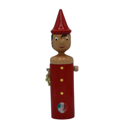 Pinocchio Salvadanaio Rosso 29cm