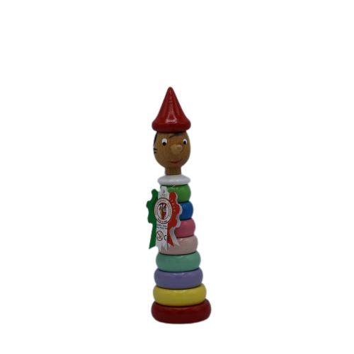 Pinocchio Gioco Anelli Vari Colori 23cm