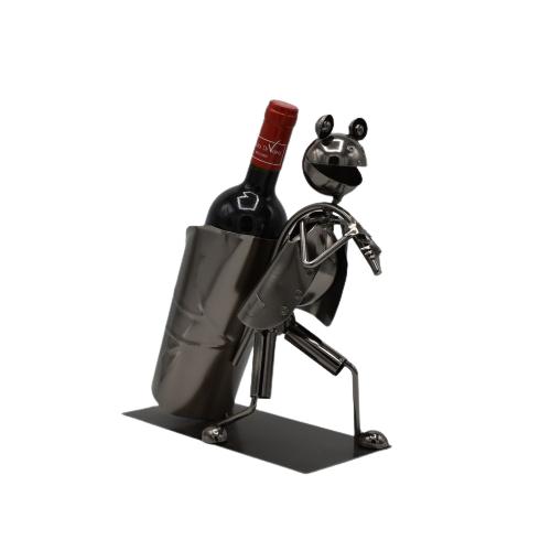 Porta vino in metallo - La Rana